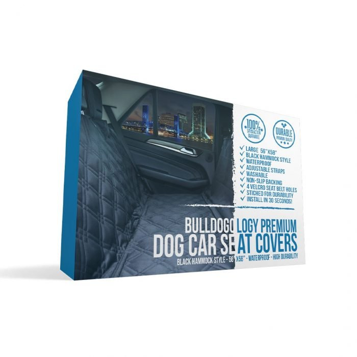 rearseats box01 Dog Car Seat Cover with Hammock