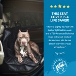 review rear blk01 Dog Car Seat Cover with Hammock