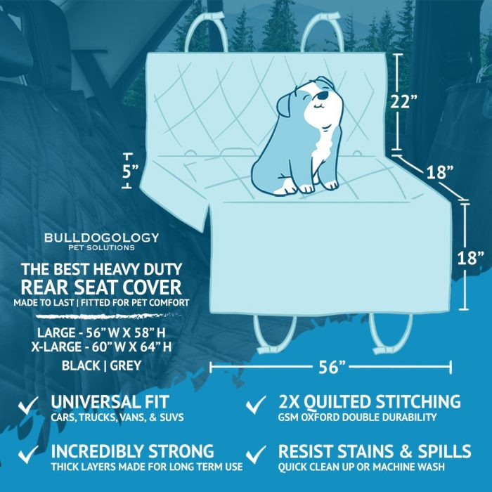 thebestrearseatcoversL01 Dog Car Seat Cover with Hammock