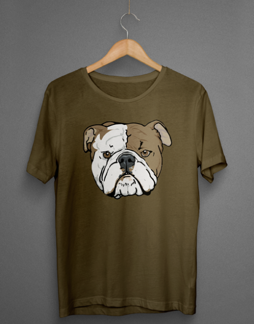English Bulldog Head Tshirt
