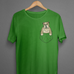 english bulldog pocket tshirt00