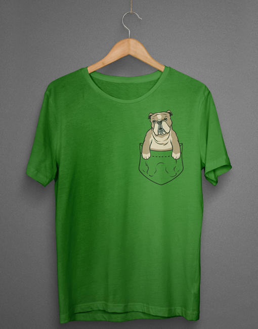 English Bulldog Pocket Tshirt Bulldogology
