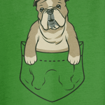 english bulldog pocket tshirt01