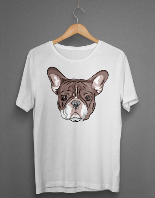 French Bulldog Head Tshirt