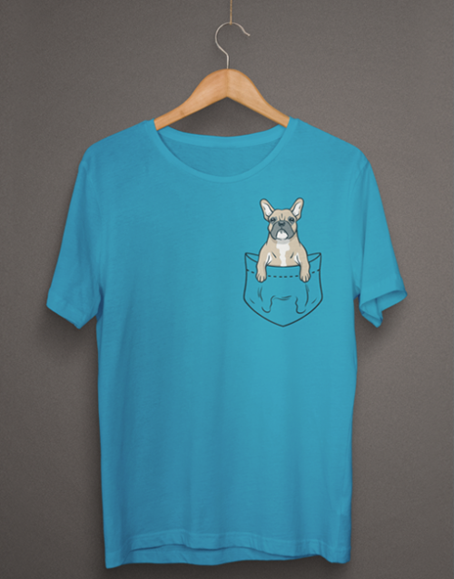 french bulldog pocket tshirt00