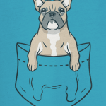 french bulldog pocket tshirt01