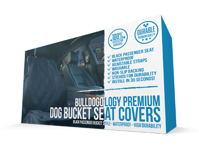 Bulldogology Premium Front Seat Covers Black