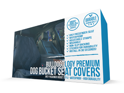 Bulldogology Premium Front Seat Covers Grey