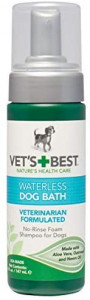 Vet's Best Waterless Dog Bath   No Rinse Dry Shampoo for Dogs