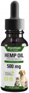 Downtown Pet Supply 500 or 1000 MG of Hemp Oil for Dogs