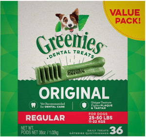Greenies Original Regular Natural Dental Dog Treats