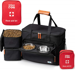 Unique Dog Travel Bag - Dog Traveling Luggage Set for Dogs Accessories