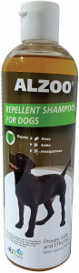 ALZOO Flea and Tick Repellent Shampoo for Dogs - Repels Fleas, Ticks, and Mosquitoes - Natural Ingredients with Essential Oils, Proven Effective Repellent