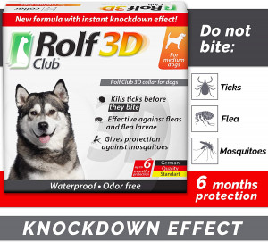 Rolf Club 3D FLEA Collar for Dogs – Flea and Tick Prevention for Dogs