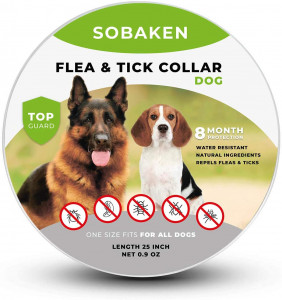 SOBAKEN Flea and Tick Prevention for Dogs, Natural and Hypoallergenic Flea and Tick Collar for Dogs