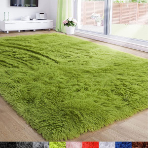 Grass Green Area Rug for Bedroom,5'X7'